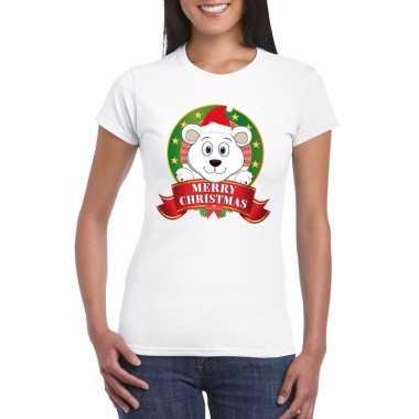 Fout kerstmis trui ijsbeer dames