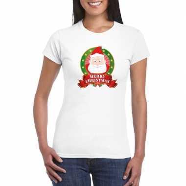 Fout kerstmis trui kerstman print dames