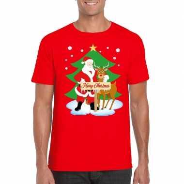 Fout kerstmis trui rood kerstman rudolf heren
