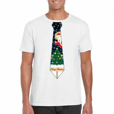 Fout kerstrui wit kerstboom stropdas heren