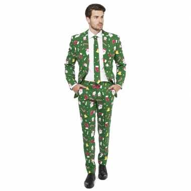 Groene business suit kerst thema