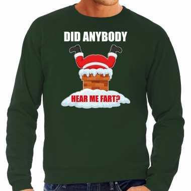 Groene kersttrui / kerstkleding did anybody hear my fart heren grote maten