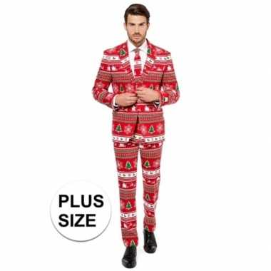 Grote maat rode business suit kerst thema