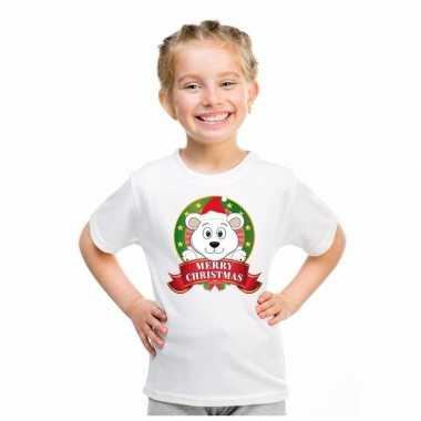 Ijsbeer kerstmis trui wit jongens meisjes