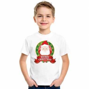 Kerstman kerstmis trui wit jongens meisjes