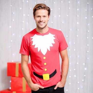 Kerstmannen print trui heren