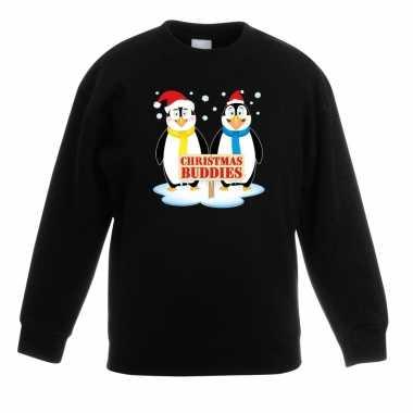 Kersttrui pinguin vriendjes zwart jongens meisjes