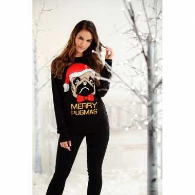 Lelijke dames kersttrui merry pugmas