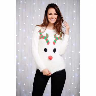 Lelijke dames kersttrui rendier
