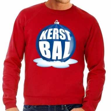 Lelijke feest kerst sweater blauwe kerstbal rode sweater heren