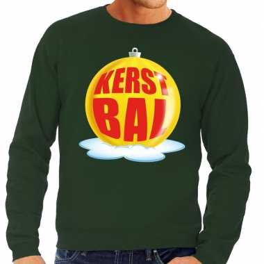 Lelijke feest kerst sweater gele kerstbal groene sweater heren