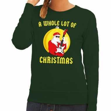 Lelijke feest kerst sweater groen a whole lot of christmas dames