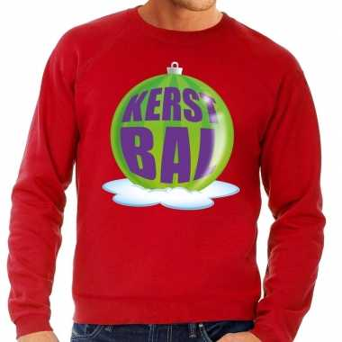 Lelijke feest kerst sweater groene kerstbal rode sweater heren