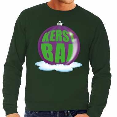 Lelijke feest kerst sweater paarse kerstbal groene sweater heren