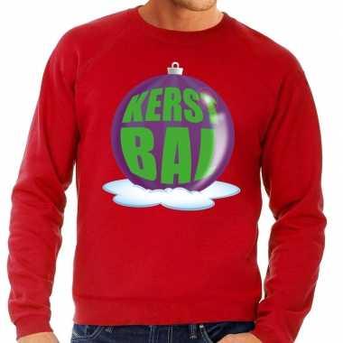 Lelijke feest kerst sweater paarse kerstbal rode sweater heren