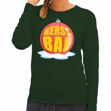 Lelijke feest kerst sweater rode kerstbal groene sweater dames