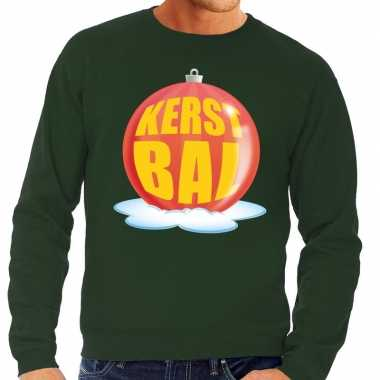 Lelijke feest kerst sweater rode kerstbal groene sweater heren