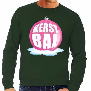 Lelijke feest kerst sweater roze kerstbal groene sweater heren