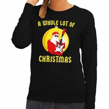Lelijke feest kerst sweater zwart a whole lot of christmas dames
