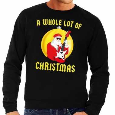 Lelijke feest kerst sweater zwart a whole lot of christmas heren