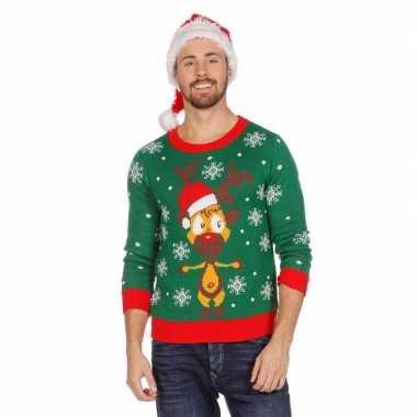 Lelijke Kersttrui Kopen.Lelijke Groene Kersttrui Rendier Heren Lelijke Kersttrui Nl