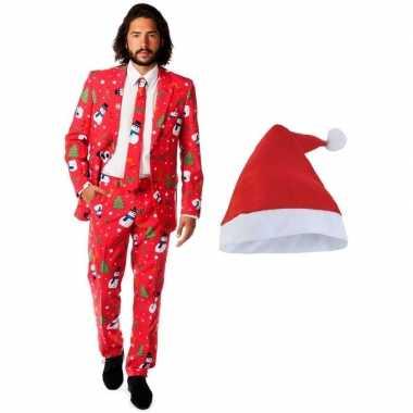 Kersttrui Heren L.Lelijke Kerst Opposuits Pakken Kostuums Kerstmuts Maat L Heren