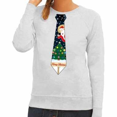 Lelijke kerst sweater kerstmis stropdas rood dames | Lelijke