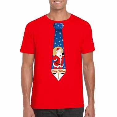 Lelijke kerst t trui kerstman stropdas rood heren