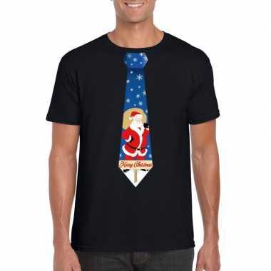 Lelijke kerst t trui kerstman stropdas zwart heren