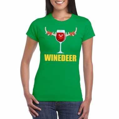 Lelijke kerstborrel t trui groen winedeer dames