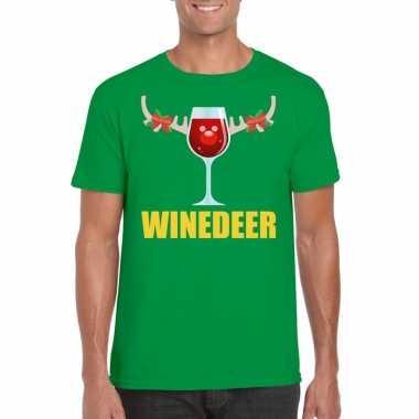 Lelijke kerstborrel t trui groen winedeer heren
