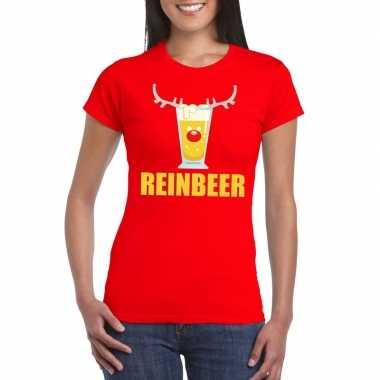Lelijke kerstborrel t trui rood reinbeer dames