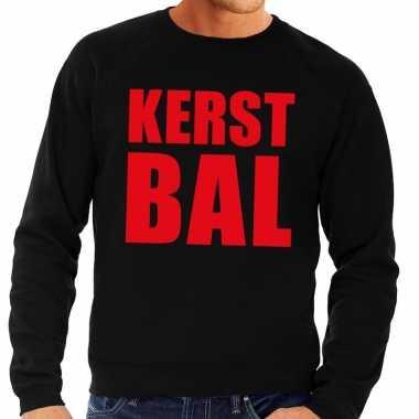 Lelijke kerstborrel trui zwart kerstbal heren
