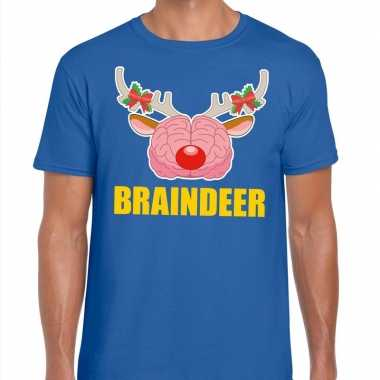 Lelijke kerstmis t trui braindeer blauw heren