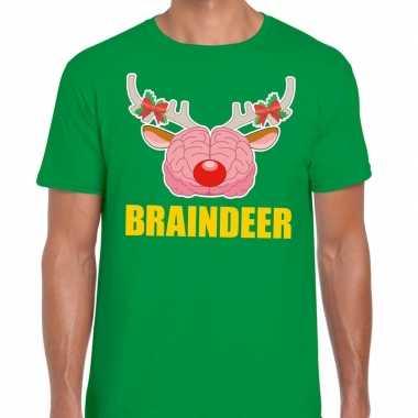Lelijke kerstmis t trui braindeer groen heren