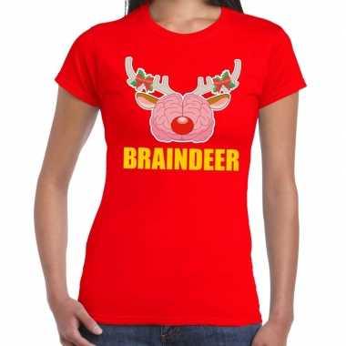 Lelijke kerstmis t trui braindeer rood dames