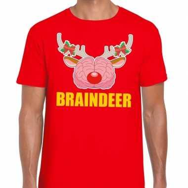 Lelijke kerstmis t trui braindeer rood heren