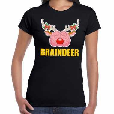 Lelijke kerstmis t trui braindeer zwart dames