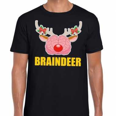 Lelijke kerstmis t trui braindeer zwart heren