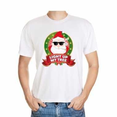 Lelijke kerstrui blowende kerstman heren