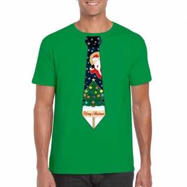 Lelijke kerstrui groen kerstboom stropdas heren
