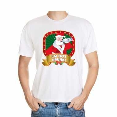 Lelijke kerstrui wit dronken kerstman heren