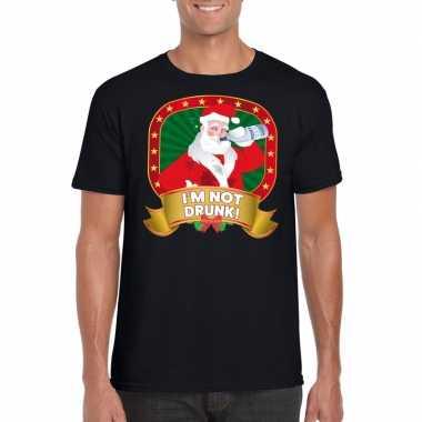 Lelijke kerstrui zwart dronken kerstman heren