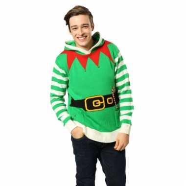 Lelijke kersttrui elfen outfit