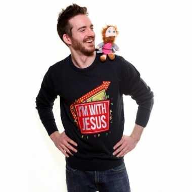 Lelijke kersttrui i am with jesus