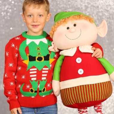 Lelijke kersttrui kerstelf kids