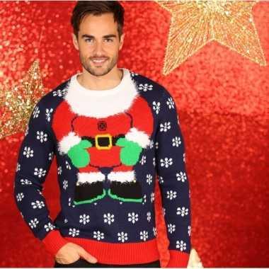 Lelijke kersttrui kerstelf mannen
