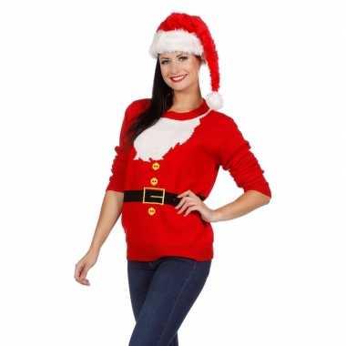 Lelijke kersttrui kerstmannen pak dames