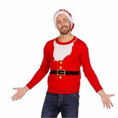 Lelijke kersttrui kerstmannen pak heren