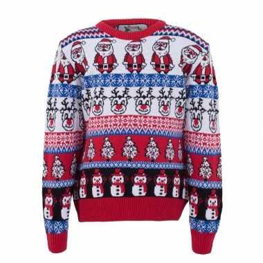 Lelijke kersttrui nordic print volwassenen